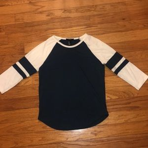FOREVER 21 3/4 sleeved shirt with stripes